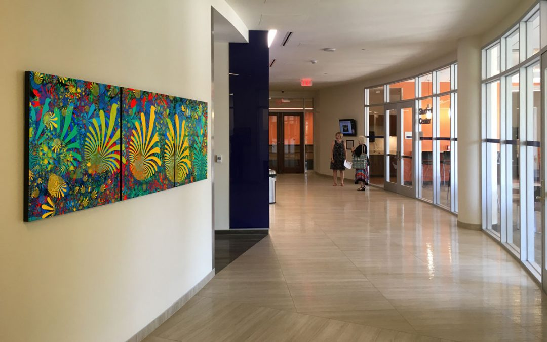 Coral Reef Hung at Ben and Maytee Fisch College of Pharmacy