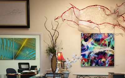 Artworks hung at Valerosa Designs & Gallery